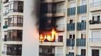 Salvo pela PSP de casa em chamas no Cacém