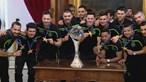 Sporting homenageado na Câmara Municipal de Lisboa após vencer campeonato europeu de futsal