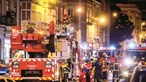 Entulho causa incêndio com dois mortos e 11 feridos em Lisboa